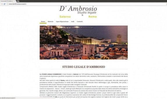 Sito web Dambrosioavvocati.it